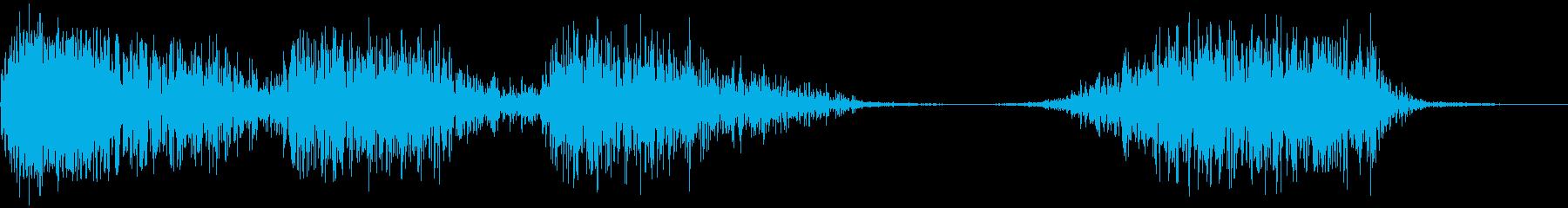 モンスター 威嚇 03の再生済みの波形