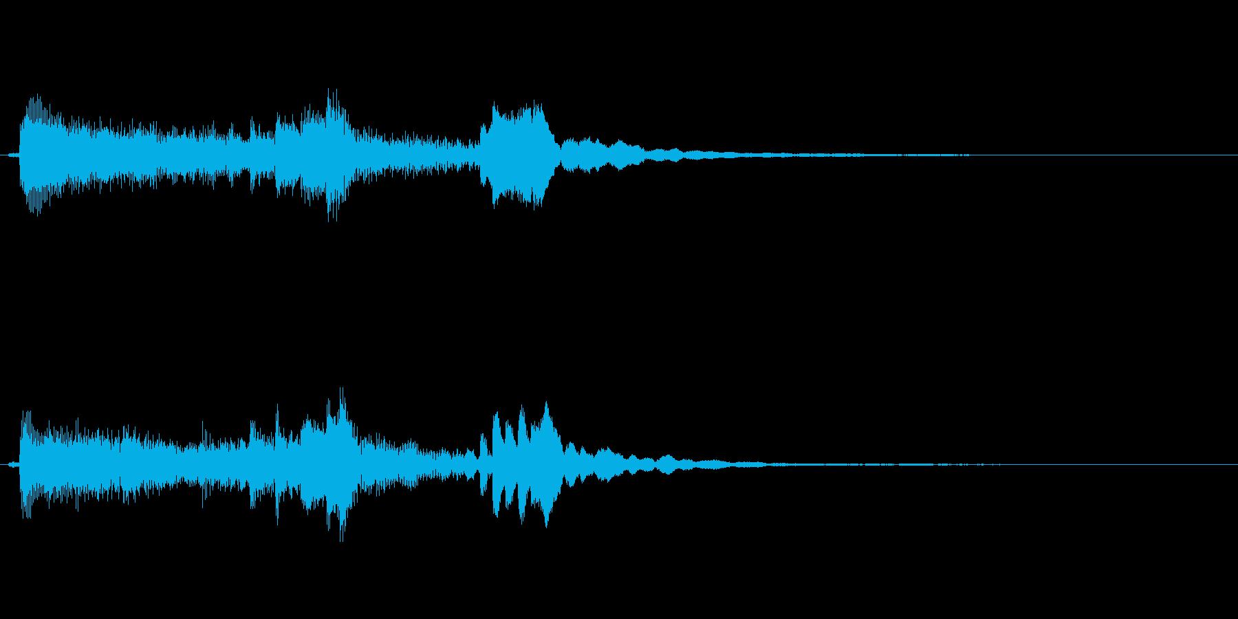和風物の琴、駆け上がりの再生済みの波形