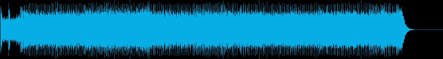 激しいロックで疾走する「熊蜂の飛行」の再生済みの波形