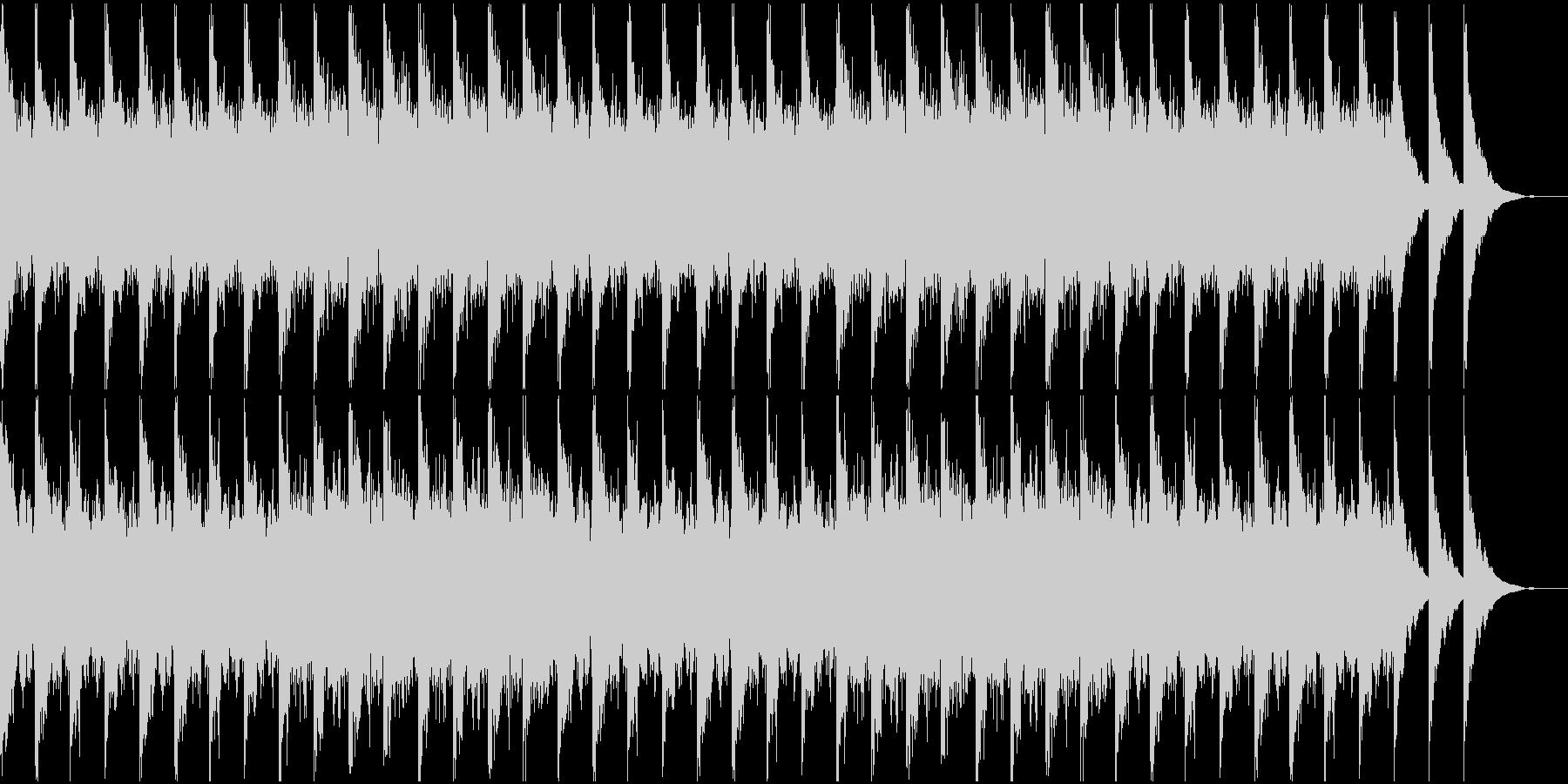 ノイズが不気味なBGMの未再生の波形