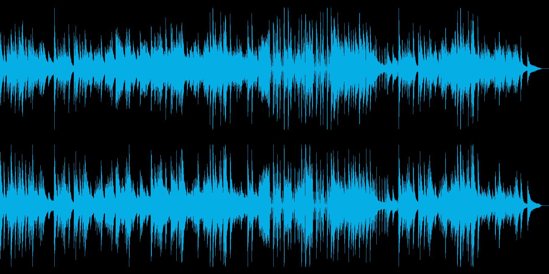ノスタルジックな思い出ピアノソロバラードの再生済みの波形