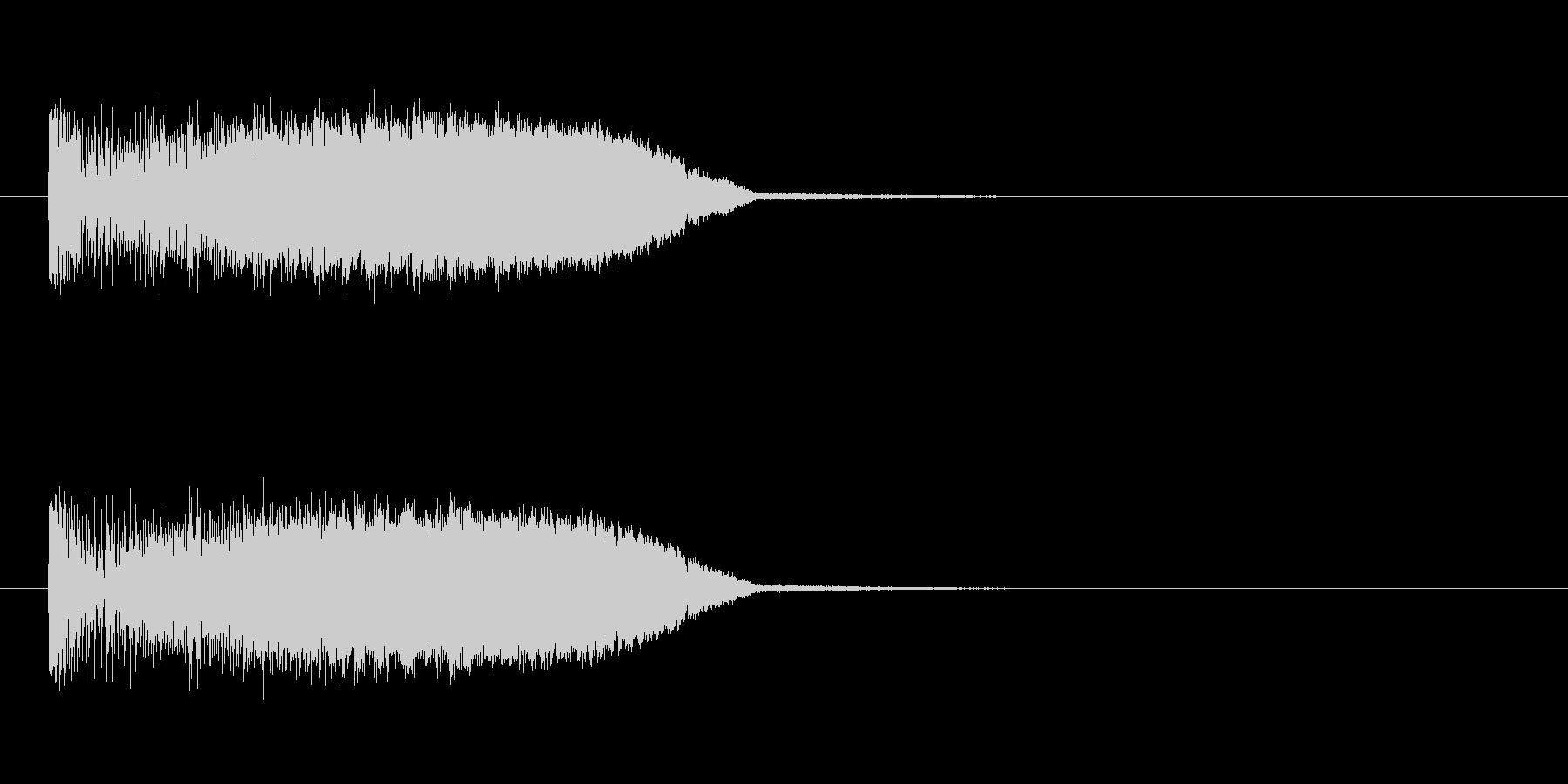 メーターアップの未再生の波形