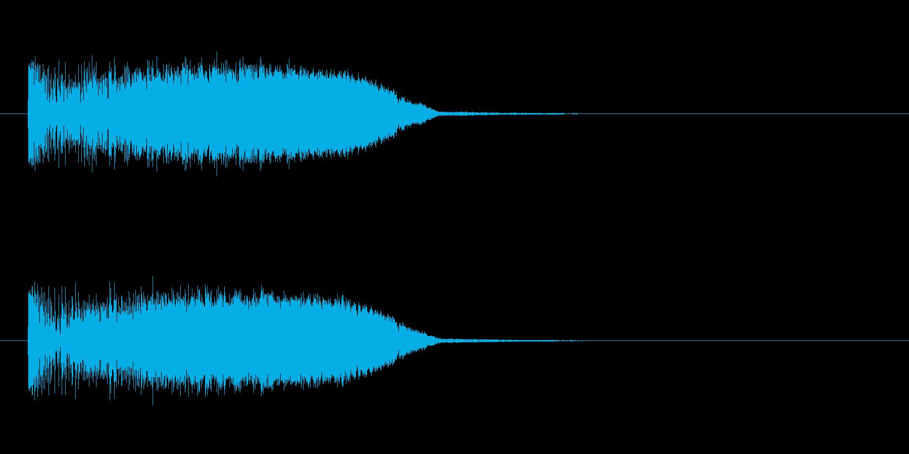 メーターアップの再生済みの波形