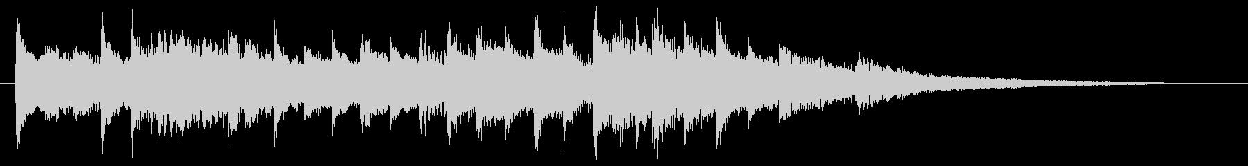 バッハ・バロック風チェンバロオープニングの未再生の波形