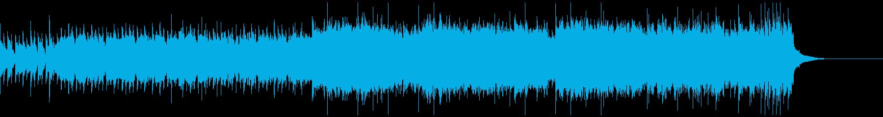 オープニング用ロックギターインストの再生済みの波形