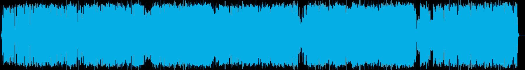 英語洋楽:明るく切ない軽快リズムのロックの再生済みの波形