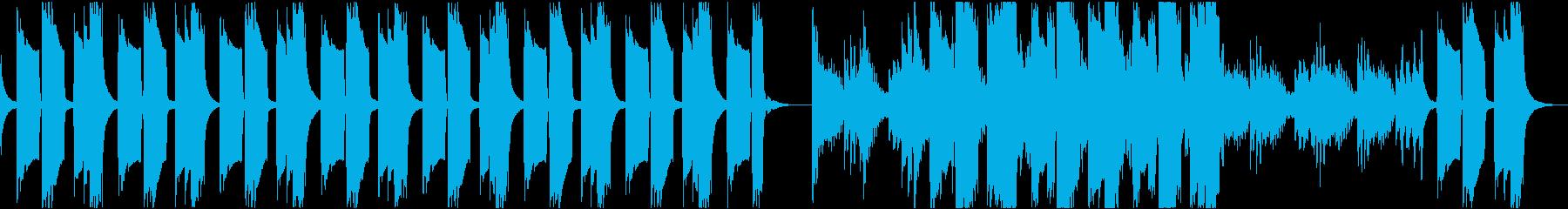 独特なリズムで不気味なメロディーの再生済みの波形
