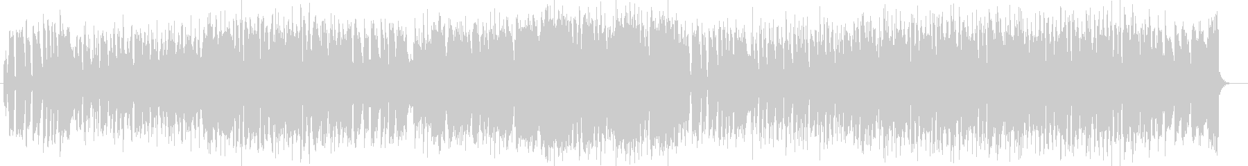 ほのぼの感のシンセサイザーギターポップの未再生の波形