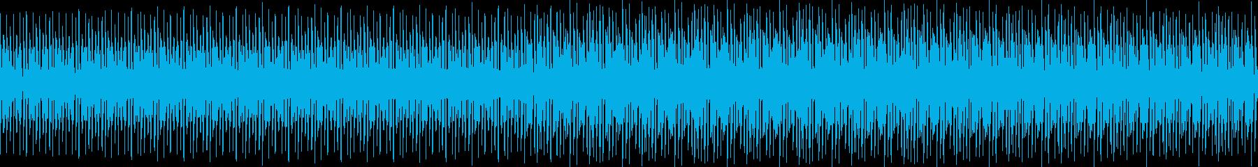 ギターのリフとパーカッション。イン...の再生済みの波形