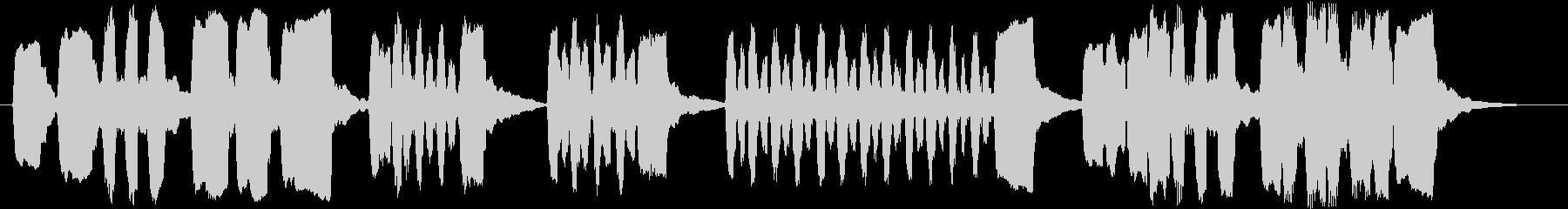 リコーダーで作ったシンプルなジングルの未再生の波形