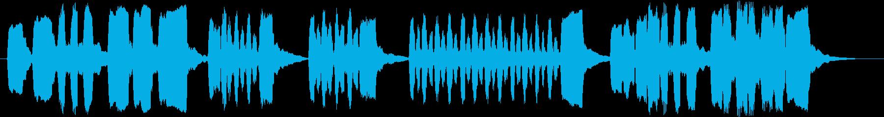 リコーダーで作ったシンプルなジングルの再生済みの波形