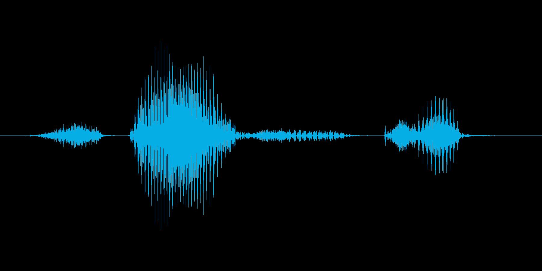 ステージ1(いち)の再生済みの波形