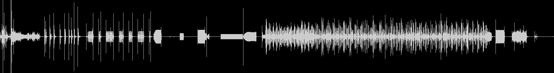 FAXマシン、送信、オフィス; D...の未再生の波形