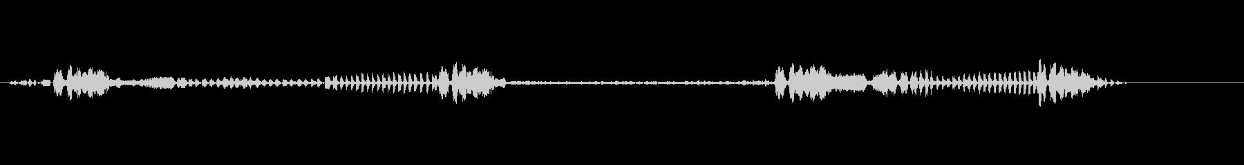 ファームのオンドリの未再生の波形