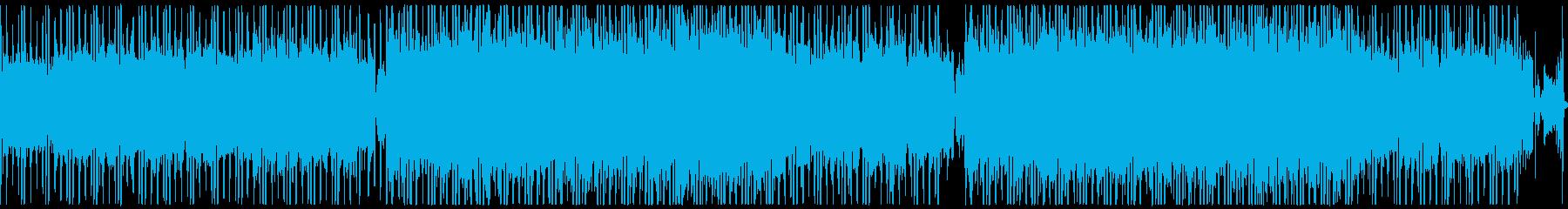 ツインギターのバッキングとシンセメロの再生済みの波形