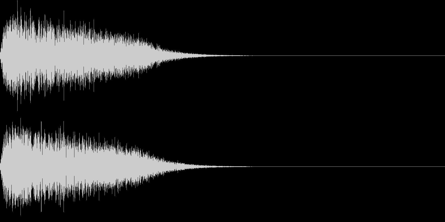 キュイン ボタン ピキーン キーン 11の未再生の波形