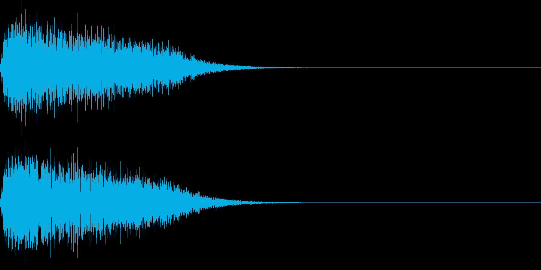 キュイン ボタン ピキーン キーン 11の再生済みの波形