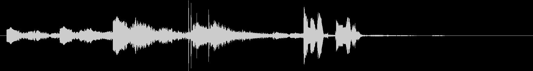雨を知らせるサイン音+女性アナウンスの未再生の波形