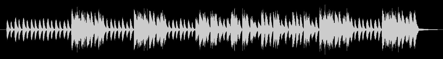 軽快なリズムでなめらかに上昇するピアノの未再生の波形