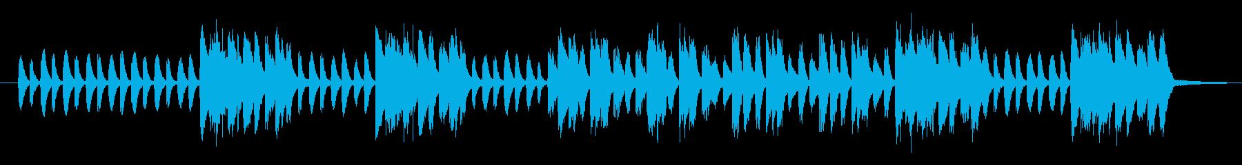 軽快なリズムでなめらかに上昇するピアノの再生済みの波形