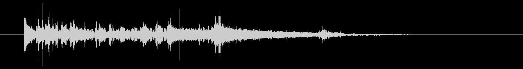 鳴き声とドラムのジングルの未再生の波形