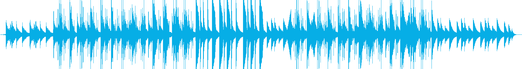思い出をたどるようなヒップホップビートの再生済みの波形