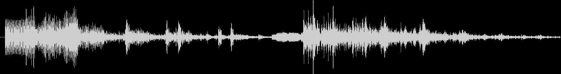 イメージ クレイジートーク10の未再生の波形