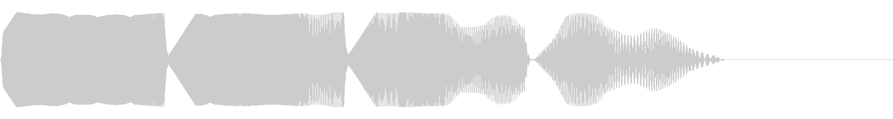 目を回すような効果音(混乱/パニック)の未再生の波形
