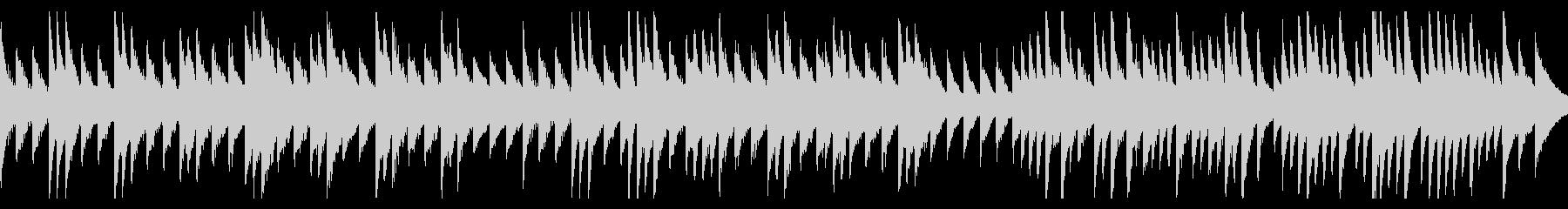 ピアノの切ないバラードの未再生の波形
