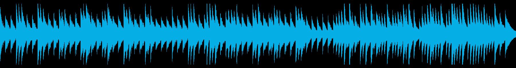 ピアノの切ないバラードの再生済みの波形