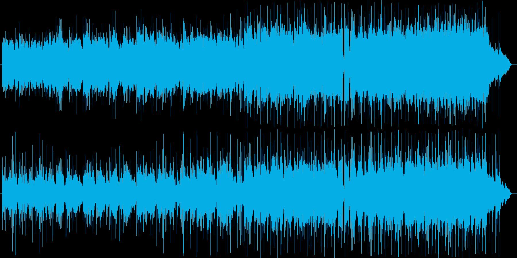 優しい雨をイメージしたアコギ主旋のBGMの再生済みの波形