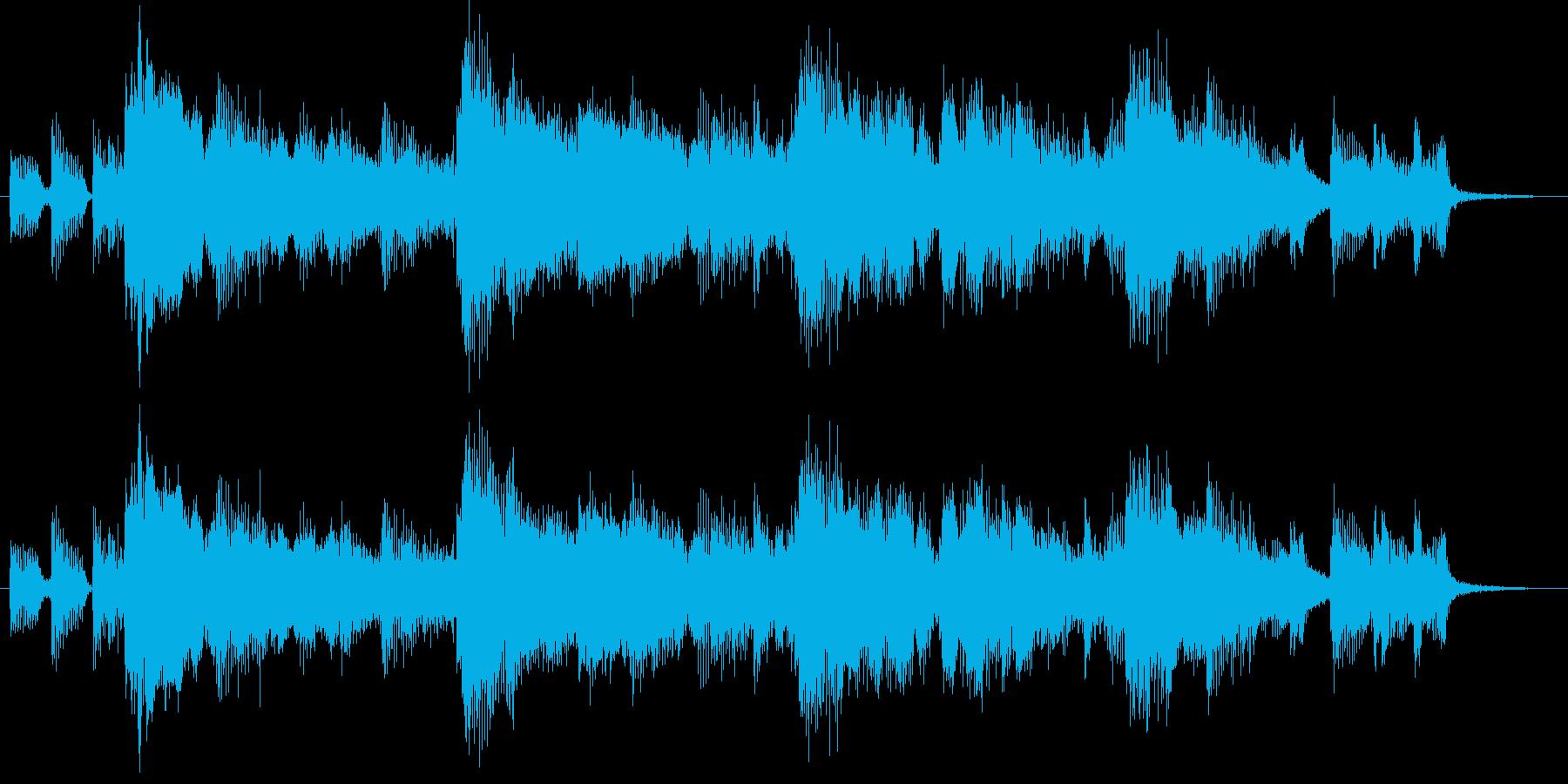 欧米の田舎風のカントリージングルの再生済みの波形