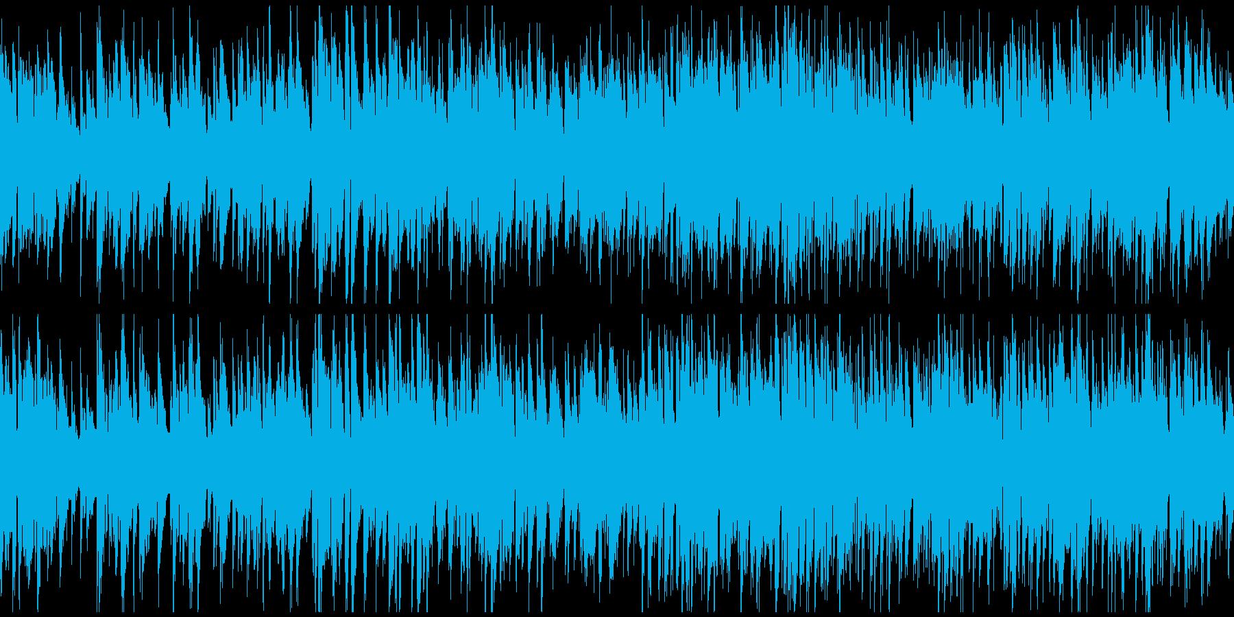 爽やかジャズ、優雅な大人の休息※ループ版の再生済みの波形