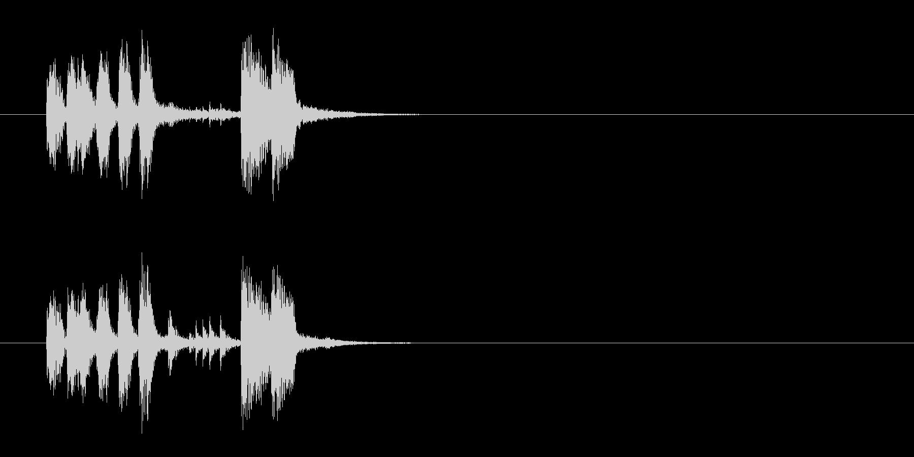 ジングル(うッ!マンボ風)の未再生の波形
