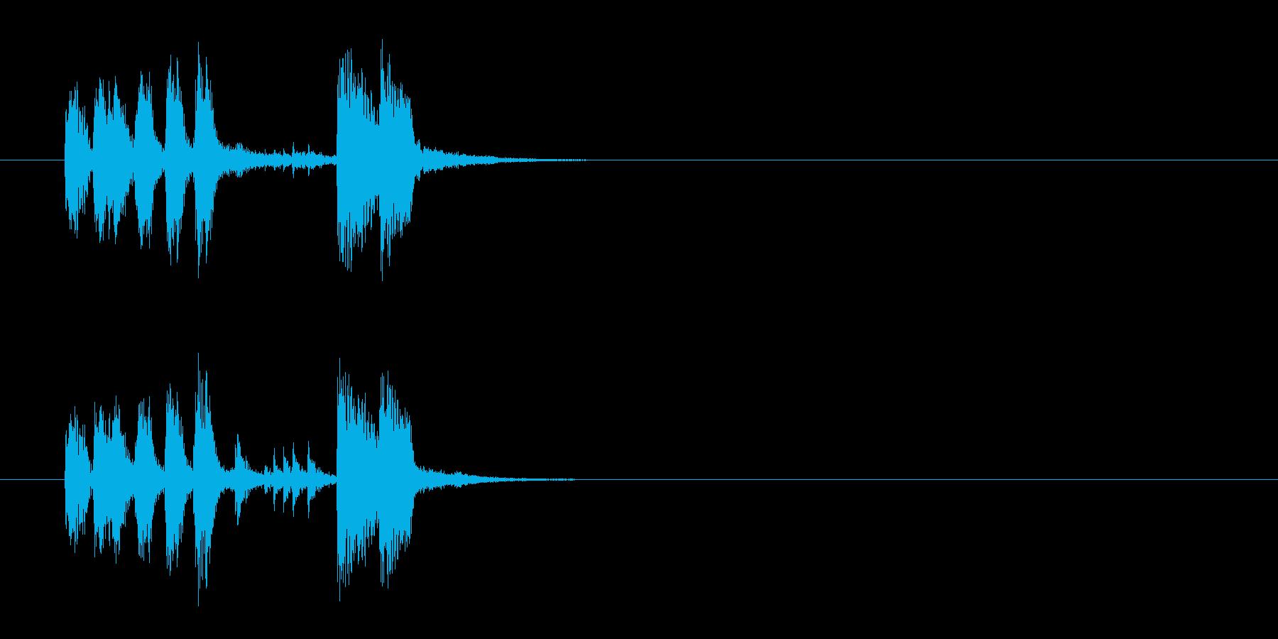 ジングル(うッ!マンボ風)の再生済みの波形
