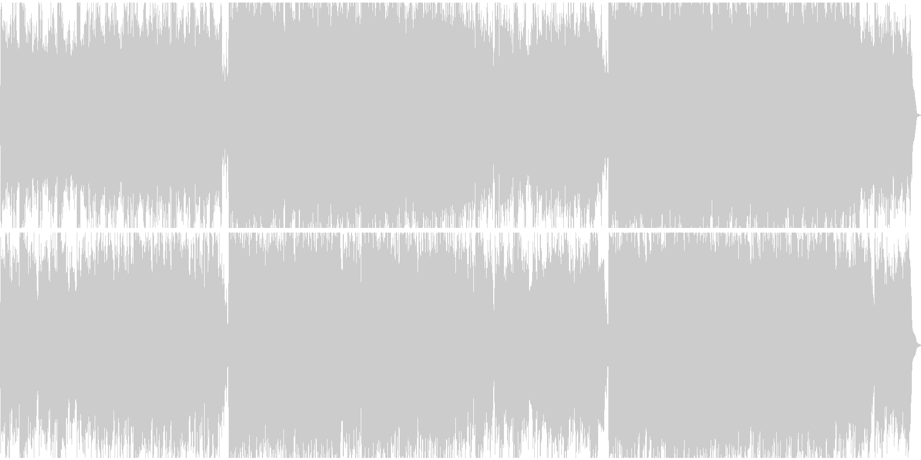 壮大な大地を前にする様なBGMの未再生の波形