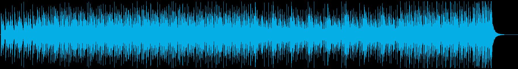 力強くアカデミックな雰囲気のBGMの再生済みの波形