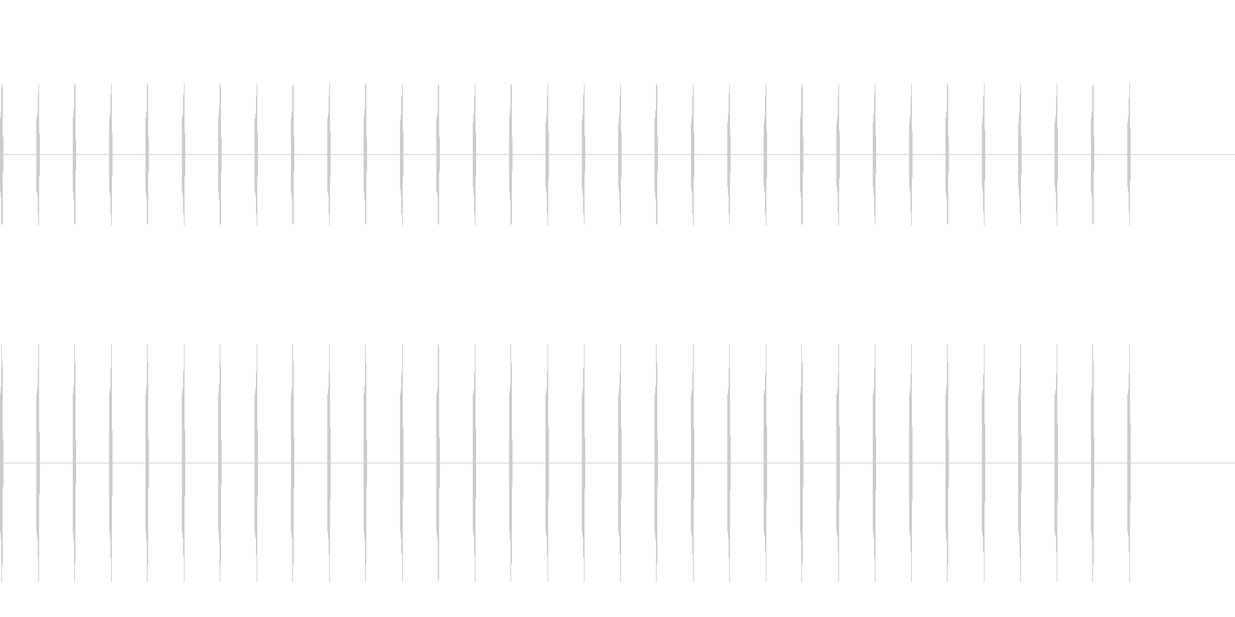 足音 小走り コミカル02の未再生の波形