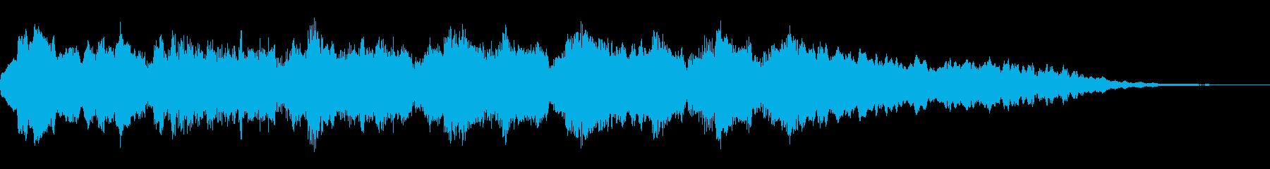 やすらぎを与える、ゆったりとしたフレーズの再生済みの波形