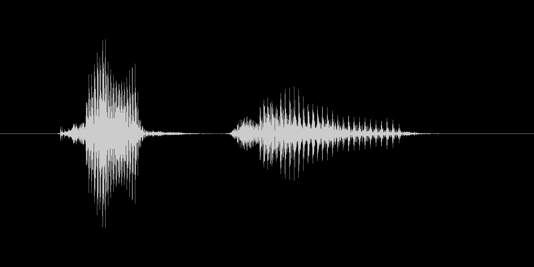 キャッチャーの未再生の波形