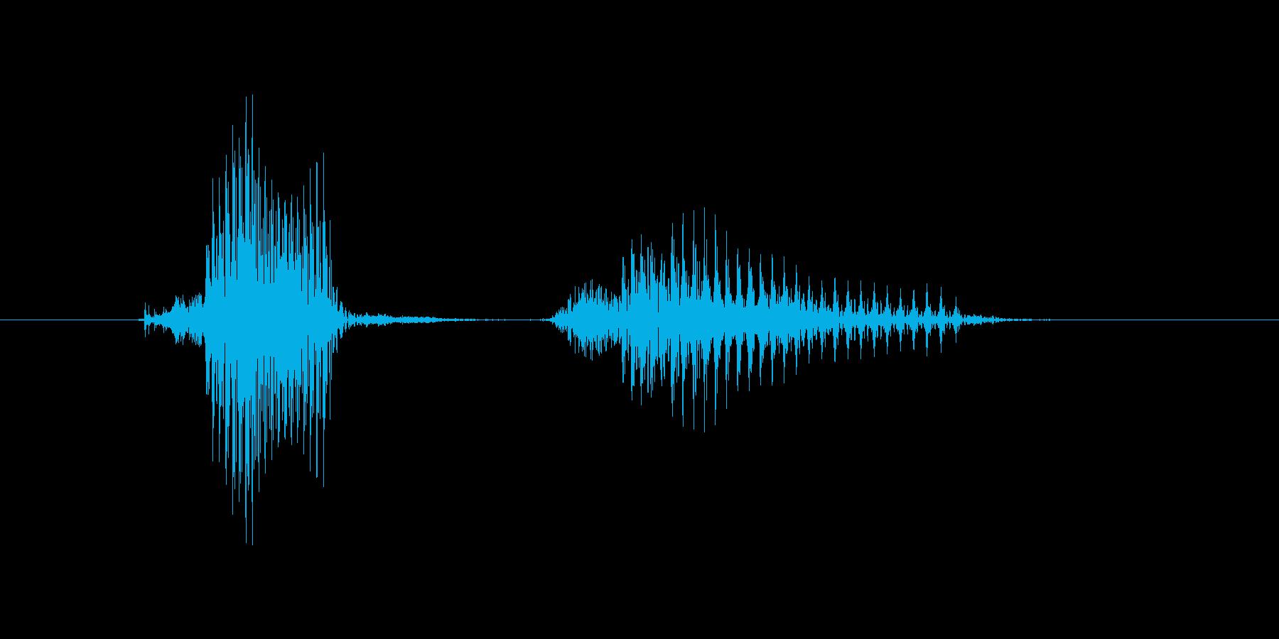 キャッチャーの再生済みの波形