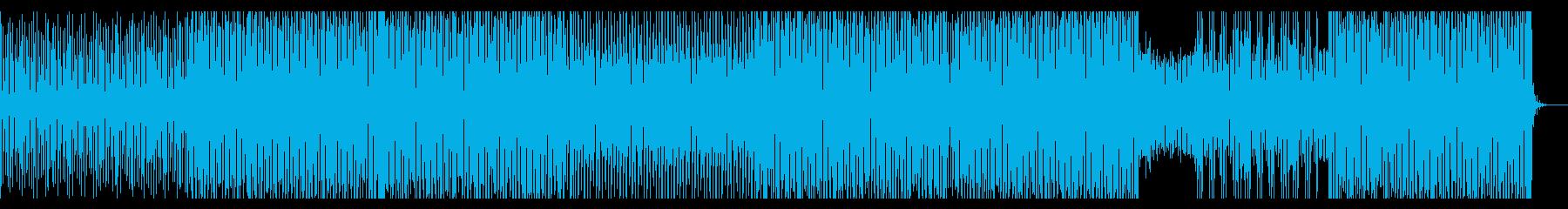 疾走感のあるピアノEDMの再生済みの波形