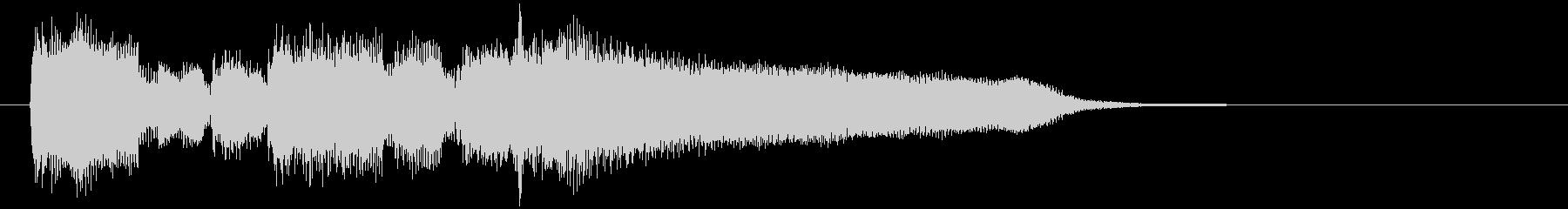 切ない夕暮れ系、リコーダーのサウンドロゴの未再生の波形