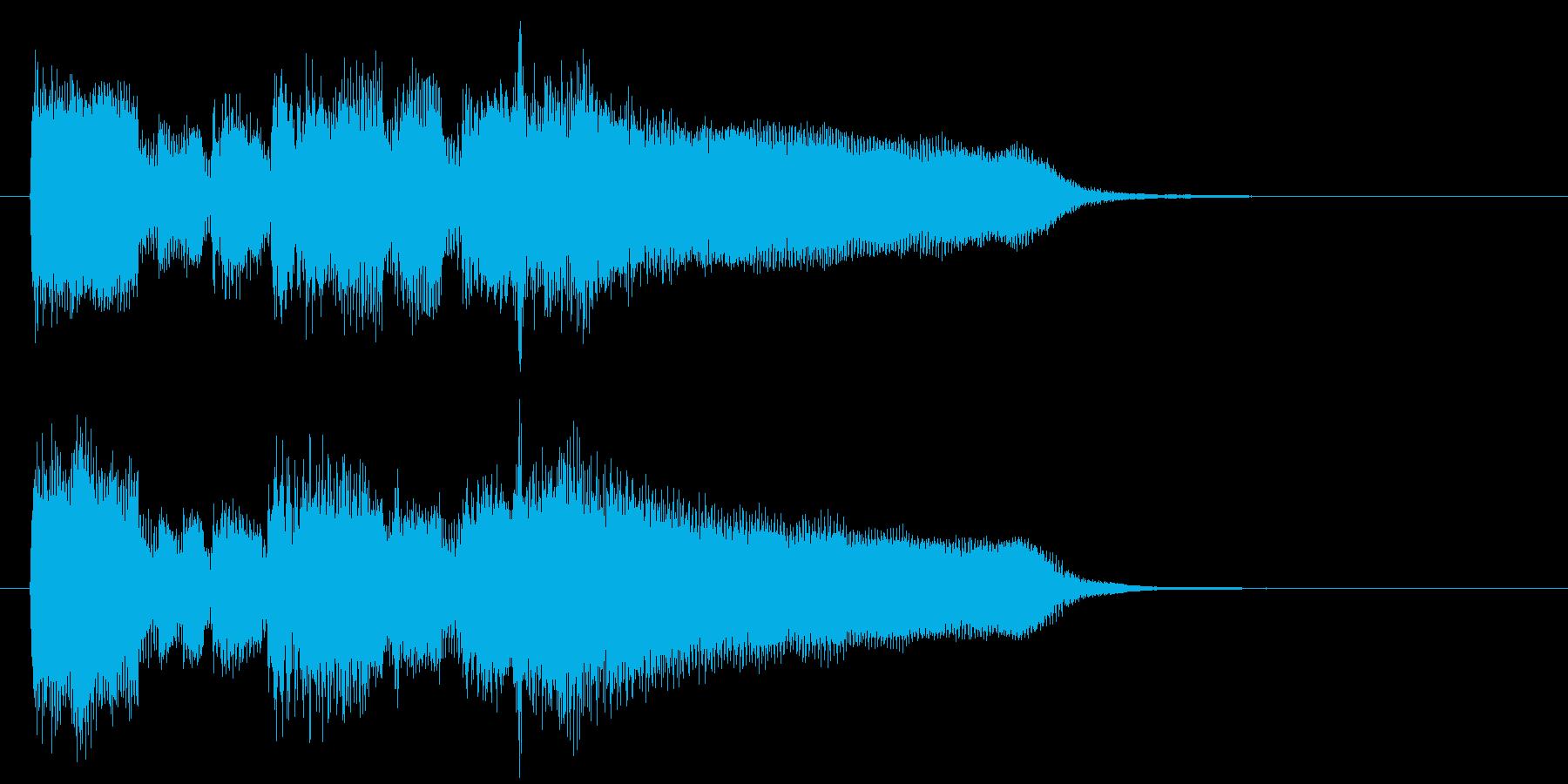 切ない夕暮れ系、リコーダーのサウンドロゴの再生済みの波形
