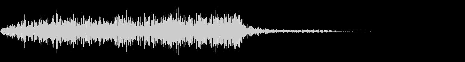 うめき声、化け物A01の未再生の波形