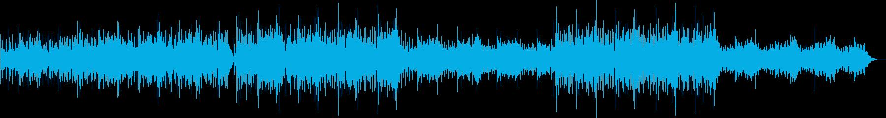 ふんわりしたきれいな曲の再生済みの波形