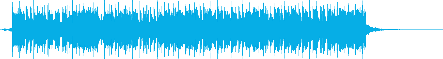 8bit感のあるロックポップの曲の再生済みの波形