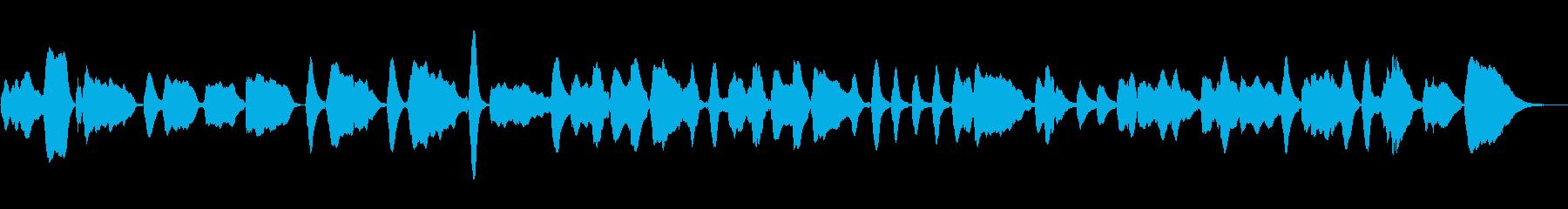 「もろびとこぞりて」をヴァイオリンソロでの再生済みの波形