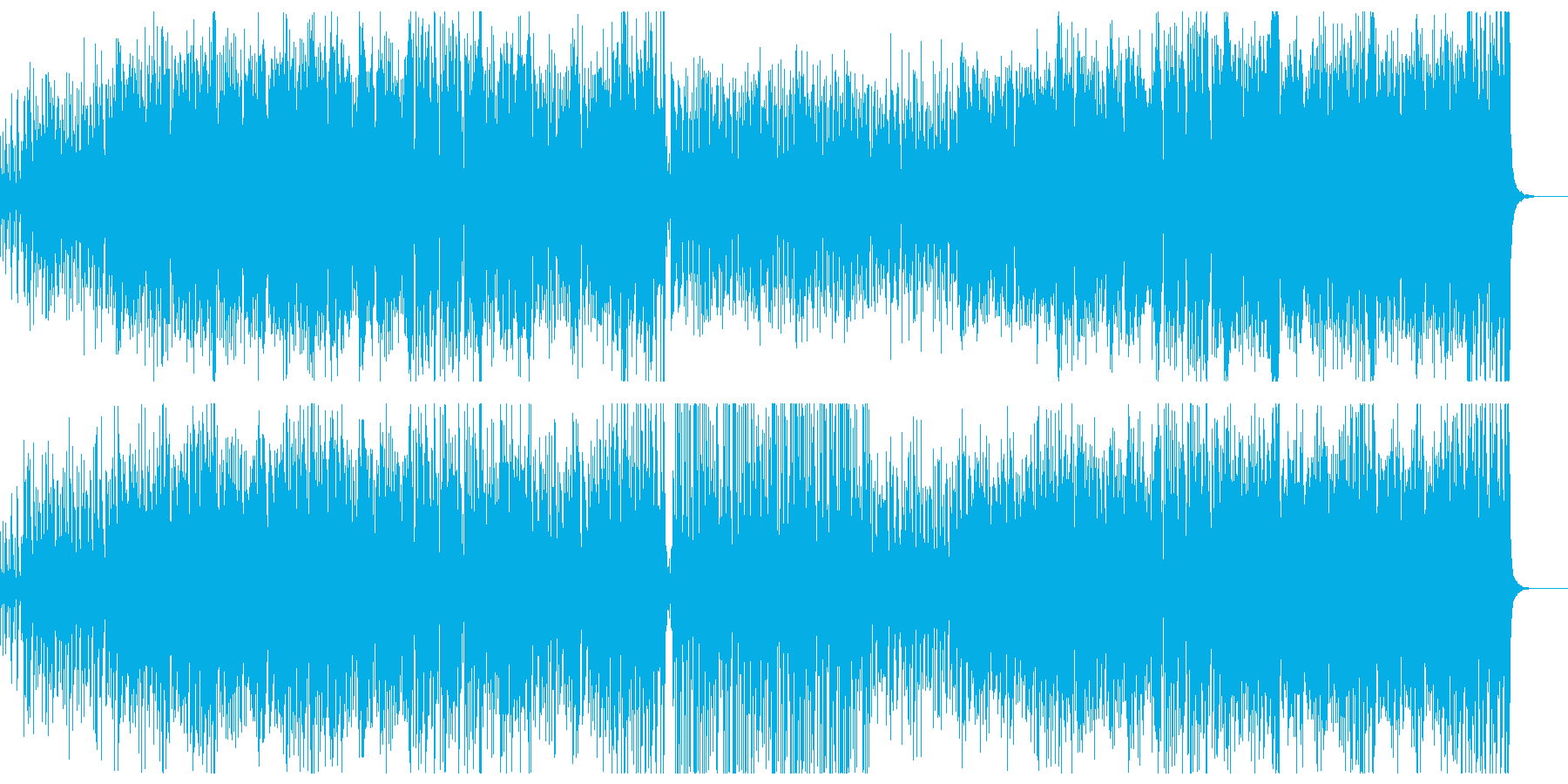 どっしりした和風楽曲の再生済みの波形