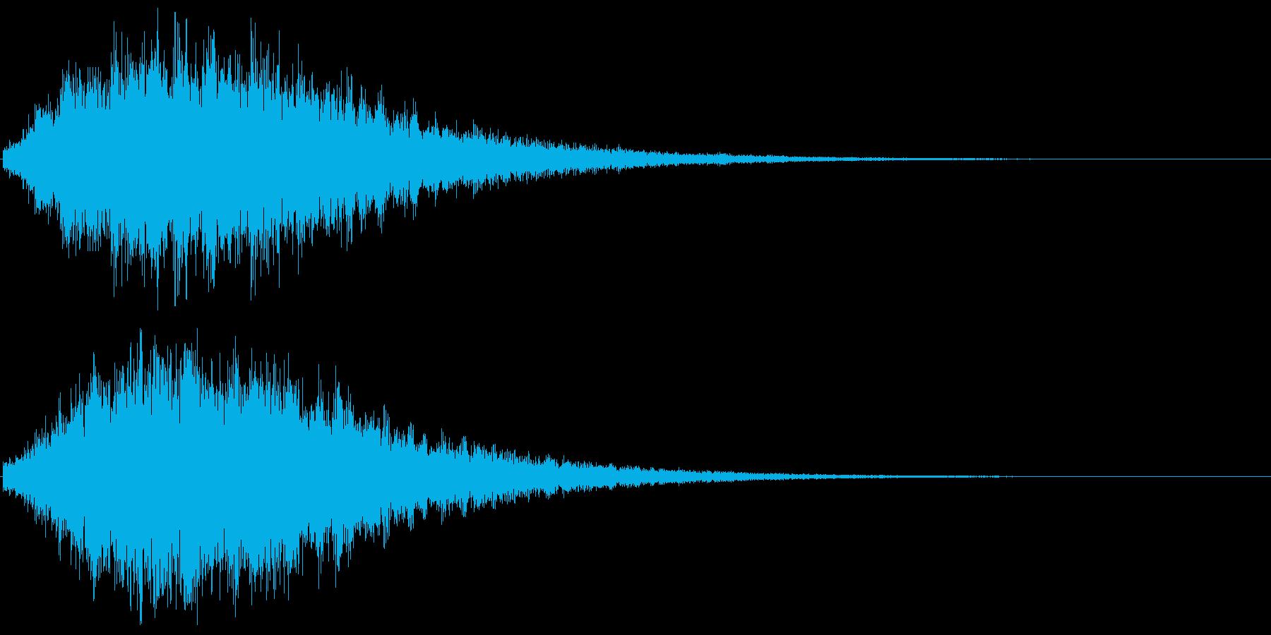 非常に重いリバーブ、音楽、パーカッ...の再生済みの波形